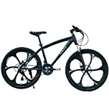 MRktkr Men's/Ladies' Bike 26 Inch Carbon Steel Mountain Bike 24 Speed Bicycle Full Suspension MTB Outdoor Racing Cycling,High Carbon Steel Frame,Fast-Speed Comfortable