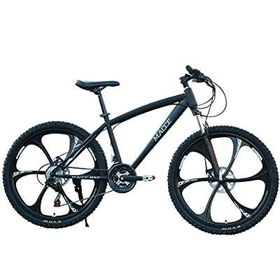 MRktkr Men's/Ladies' Bike 26 Inch Carbon Steel Mountain Bike 24 Speed Bicycle Full Suspension MTB Outdoor Racing Cycling,High Carbon Steel Frame,Fast-Speed Comfortable
