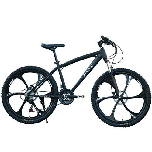 Mountainbikes 26 Zoll MTB Kohlenstoffreicher Stahl Strong 26 Zoll Fully Doppelscheibenbremse Country Gearshift Fahrrad 6 Cutter 24-Gang Rennrad Fahrrad Vollfederung MTB (Schwarz)
