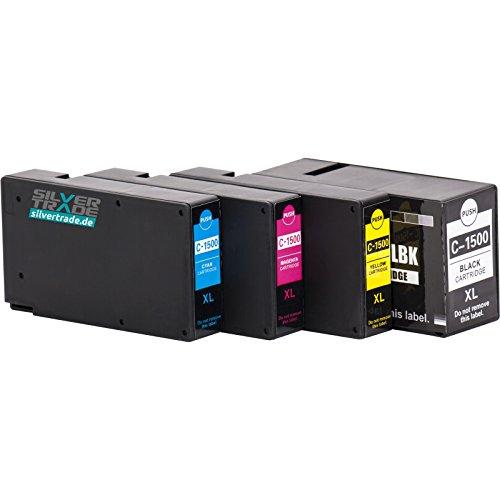 MultiPack 4 Tintenpatronen kompatibel für Canon PGI 1500XL mit Chip - passend für Maxify MB 2000 2050 2300 Series 2350