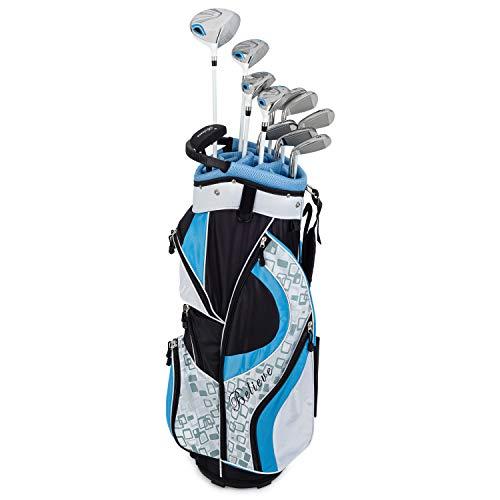 Ensemble de golf complet pour femmes Founders Club pour femmes (16 pièces) Longueur standard ou petite pour droitier (rose, standard)