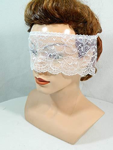 Maske aus Spitze verführerisch sexy Augenbinde weiß