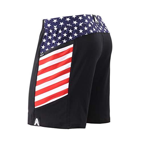 Anthem Athletics Hyperflex 7' Workout Training Gym Shorts - Black & American Flag G2 - Small