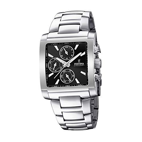 Festina Herren Chronograph Quarz Uhr mit Edelstahl Armband F20423/3