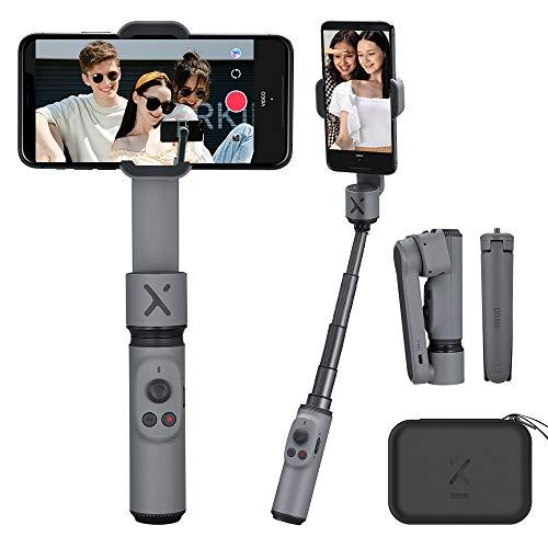 Smooth X Gimbal Stabilisator fur Smartphone, ausziehbarer Selfie Stick, Faltbarer Handheld Phone Gimbal, Vlog YouTubeVideo, Gesichts/Objektverfolgung, Bluetooth-Fernbedienung