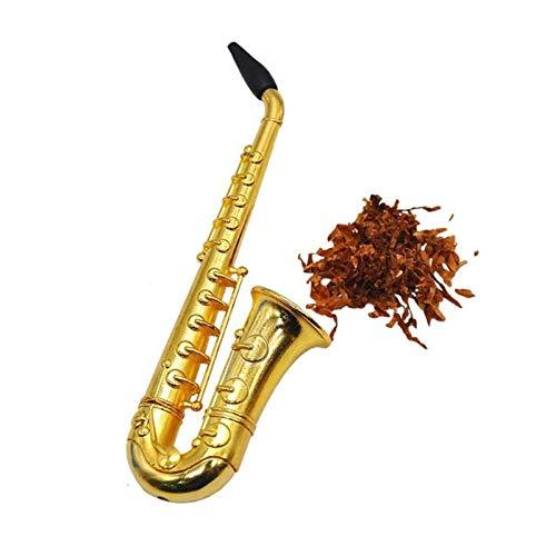 CUzzhtzy Tragbare Mini-Rohr, Einzigartiges Saxophon Stil, Metallrohr-Geschenk Kreative Rohr