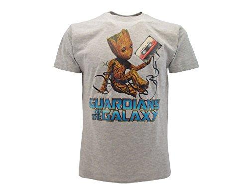 Camiseta original Guardiani de la Galaxia Vol. 2 Groot camiseta con etiqueta y etiqueta de originalidad gris S