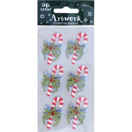 Weihnachten Zuckerstange, Verzierung, Weihnachten und festliche Dekoration, zum Basteln und Scrapbooking