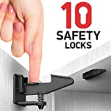 Kitchen Cabinet Locks Child Safety - 10 Pack Adhesive Child Proof Cabinet Locks - Baby Safety Cabinet Locks - Quick and Easy Child Locks for Cabinets and Drawers - Corner & Door Guards, Socket Covers