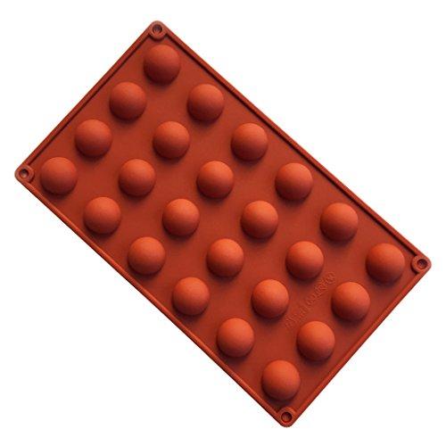 JasCherry Moule en silicone Pour Muffins, Cupcake, Chocolat, Pudding Et Gelée - Demi cercle #1