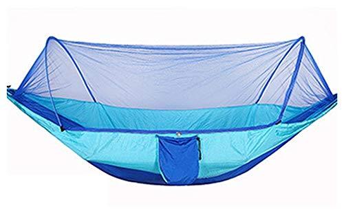 WERTYG Acampar Hamaca con Mosquitera 1-2 Persona Colgante Portable Cama del jardín Hamaca Carpa Swing, for al Aire Libre con Mochila de Senderismo (250 * 120 cm) (Color : 250x120 Blue)