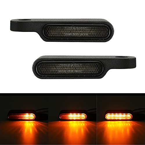 ROCCS Sequential LED Turn Signals Handlebar Marker Lights Motorcycle Mini Size Handle Bar Blinkers...