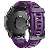 ANBEST Silicona Pulsera Compatible con Garmin Fenix 6S/Fenix 5S Correa, Liberación Rápida 20mm Correas de Reloj Repuesto para Fenix 6S Pro/5S Plus/D2 Delta Smart Watch, Morado