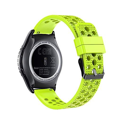 Fit-power - Cinturino di ricambio da 20 mm, per orologi Samsung Gear Sport, Samsung Gear S2 Classic, Huawei Watch 2, Garmin Vivoactive 3 e Garmin Vivomove HR, Breathable Green