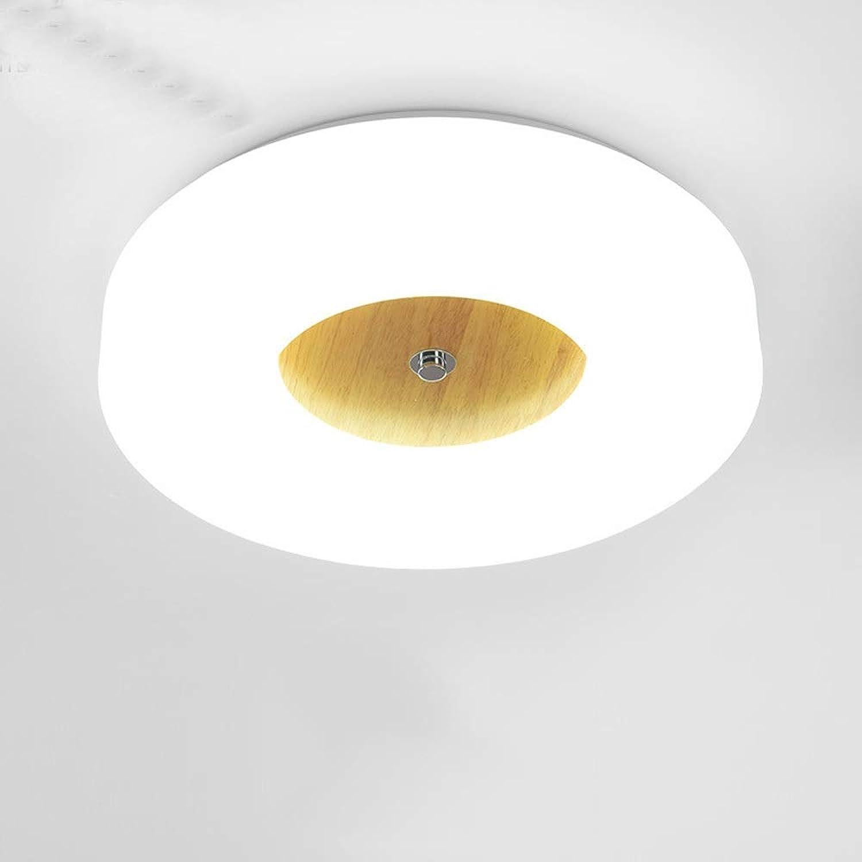 CHQW Trading 18 Watt Europischen Minimalismus Massivholz LED Deckenleuchte Moderne Einfache Studie Wei Kronleuchter Kreative Korridor Treppe Gang Dekoration Deckenleuchte