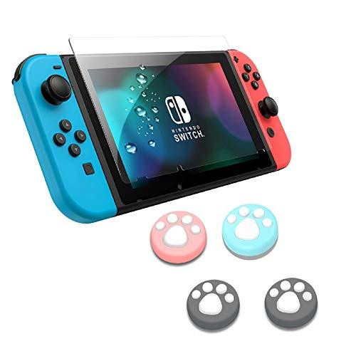 Lammcou Protector de Pantalla para Nintendo Switch Cristal Templado Pantalla con Tapas...