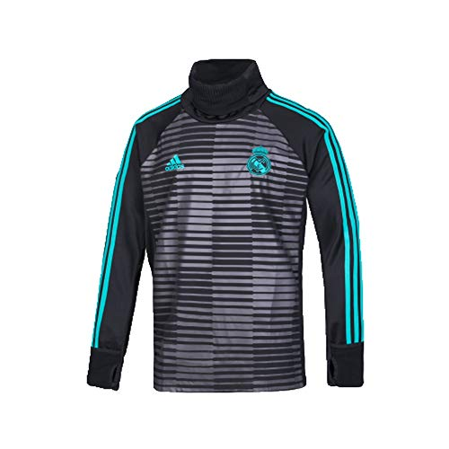 adidas Warm Herren Real Madrid Oberteil, Black/Granit, XL