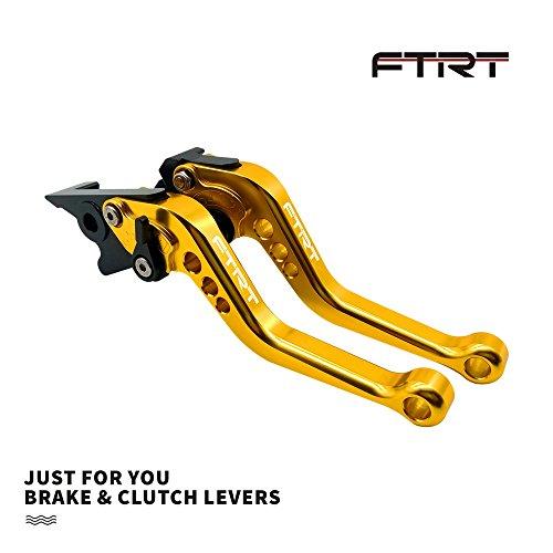 FTRT Short Brake Clutch Levers for Yamaha MT-07 FZ-07 MT-09 FZ-09 2014-2018/ XJ6 Diversion 2004-2015/ FZS1000 FZ1 FAZER 2006-2015/ FZ6R 2009-2015/ FZ8 2011-2015/ XSR700 XSR900 2016-2019: Gold