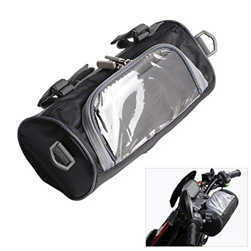 S/V Mochila de depósito para motocicleta, resistente al agua, Oxford, con ventana desmontable, universal, asiento trasero, bolsa de viaje, caja de herramientas, cola, equipaje
