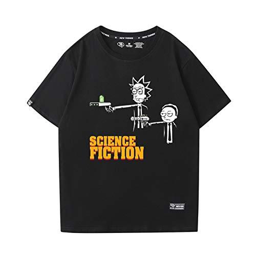 GRTBNH Camiseta Hombre Manga Corta Cuello Redondo, Rick y Morty Estampado Unisex Camisetas Casuales Tops,Style 5,S