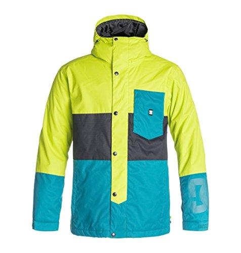 DC Shoes Defy Veste Homme Multicolore (Lime Punch) FR : L (Taille Fabricant : L)