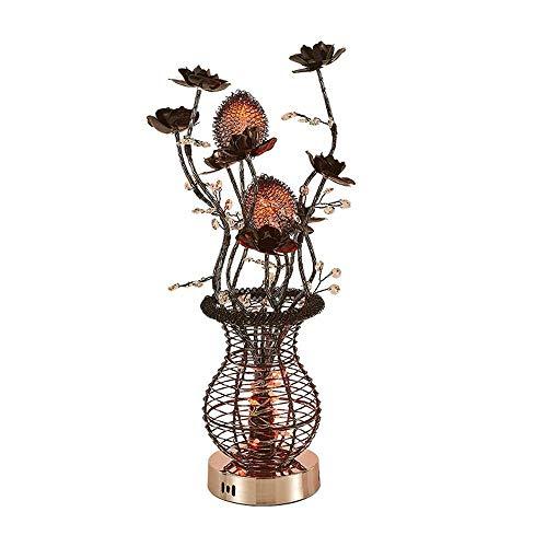 Moderne minimalistische zwarte grote vaas bloemen 3 kleuren tafellamp, met de hand geweven mooie tafel lamp, vaas/vloer/tafel lamp, nachtlampje, woondecoratie