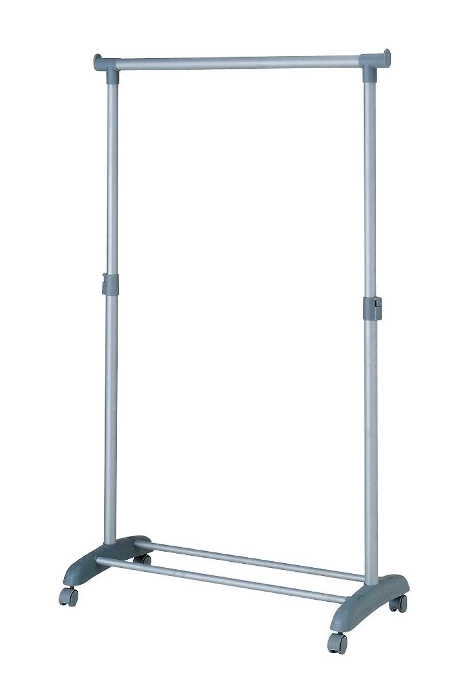 洗うたとえジャーナルパール金属 極太 パイプ ハンガー ラック シングル 耐荷重 20kg 幅 80cm キャスター付き 高さ調節可能 EPO N-9118