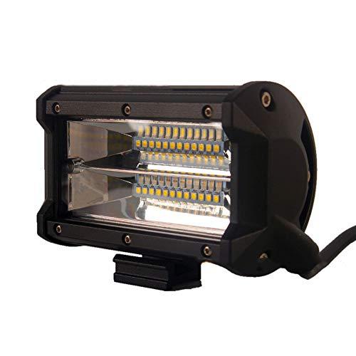 PoJu La lumière de bandes de LED allume la voiture hors route trois rangées de 72w en alliage d'aluminium Shell imperméable à l'eau de la lampe d'inspection de refit de lampe en alliage d'aluminium à