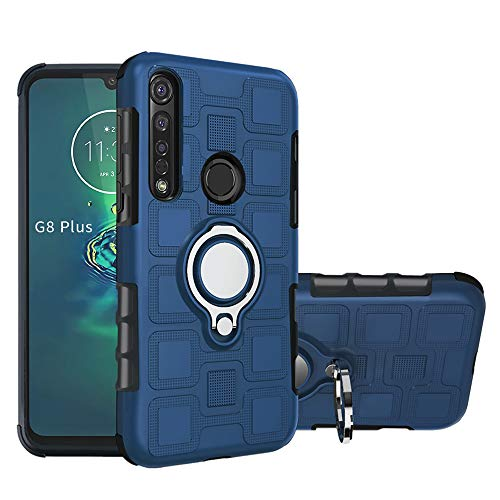 LFDZ Funda Moto G8 Plus,360 Grados Giratorio Ring Grip con Gel TPU Case Carcasa Fundas para Motorola Moto G8 Plus [Not fit Moto G8 / Moto G8 Play],Gold