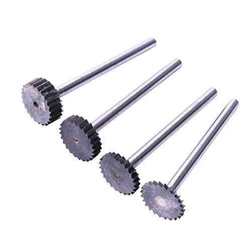 Bestgle Rotary Burr Conjunto de alta velocidad de corte de acero de tungsteno Fresas Tipo T,para Rotary Grabado para trabajar la madera Herramienta, Tallado, Grabado