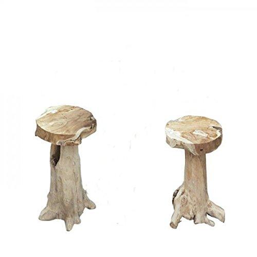 Gravidus Gravidus einzigartiger Bar-Hocker aus Wurzelteak
