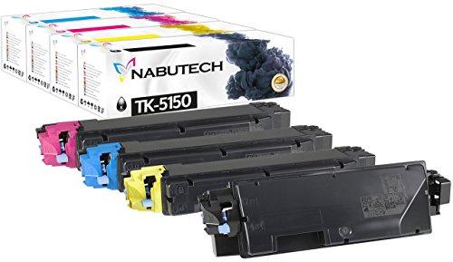 4 Original Nabutech Toner | Geprüft nach ISO-Norm 19798 | als Ersatz für TK-5150 für kyocera ecosys M6035cidn, M6535cidn, P6035cdn, P6035, M6535, M6035cdn