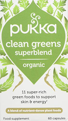 Pukka Herbs Clean Greens Organic Supplement, Pack of 60