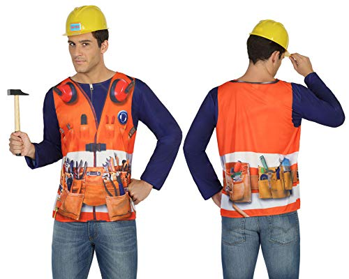 Atosa- Camiseta 3D albañil,, M-L (29770)
