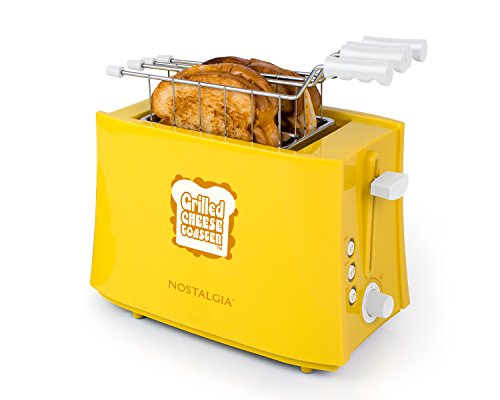Nostalgia TCS2 Grilled Cheese Toaster with Easy-Clean Toaster Baskets and Adjustable Toasting...