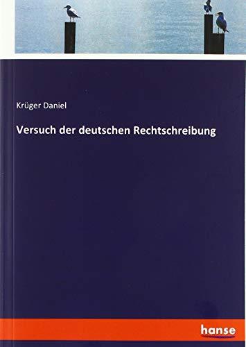 Versuch der deutschen Rechtschreibung