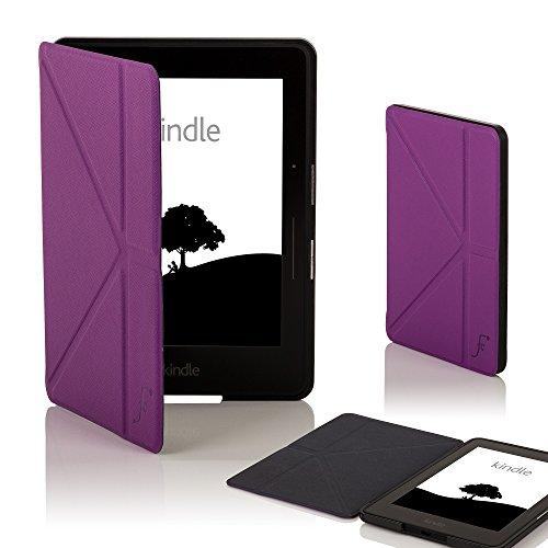 Forefront Cases Amazon Kindle Voyage Origami Hülle Schutzhülle Tasche Smart Case Cover - Ultra Dünn und Leicht mit Rundum-Geräteschutz und intelligente Auto Schlaf/Wach Funktion - Violett