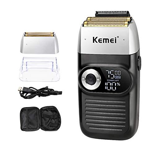 Rasoir Électrique 2 En 1 Ecran LCD Portable Rechargeable Sans Fil Rasoir Homme Reciprocating Barbe