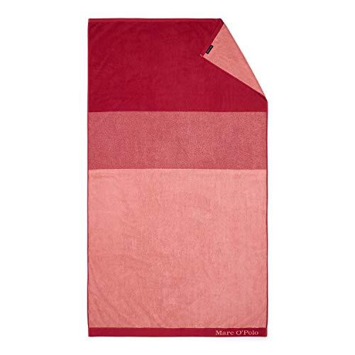 Marc O'Polo Strandlaken Horizon Strandtuch Badetuch Streifen Gestreift 100 cm x 180 cm, Farbe:Rot