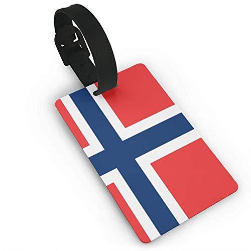 JKOVE Etiquetas Equipaje,Norway Flag identificador de Maletas de Etiqueta de Plano patrón Equipaje Bolso ID Tag portatarjetas con Llavero