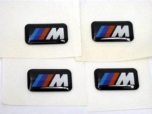 for BMW ///M sport wheel Emblem badge (SET 4) sticker decal