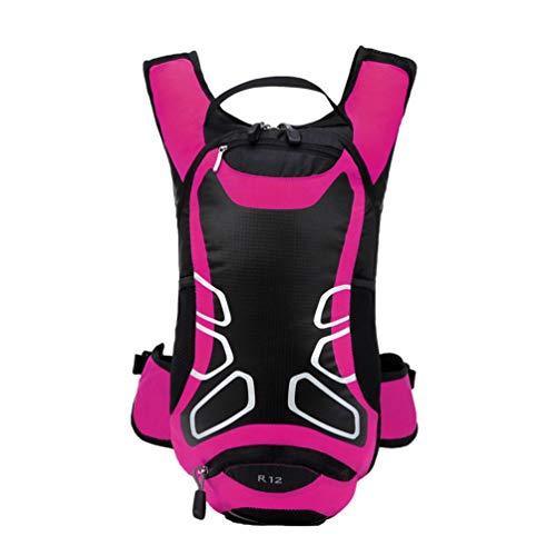 Yuanu Fahrradrucksack 12L Wasserdicht Nylon Atmungsaktiv Fahrradtasche Perfekt für Fitness Laufen Wandern Klettern Camping Skifahren Radfahren Trekking Rose
