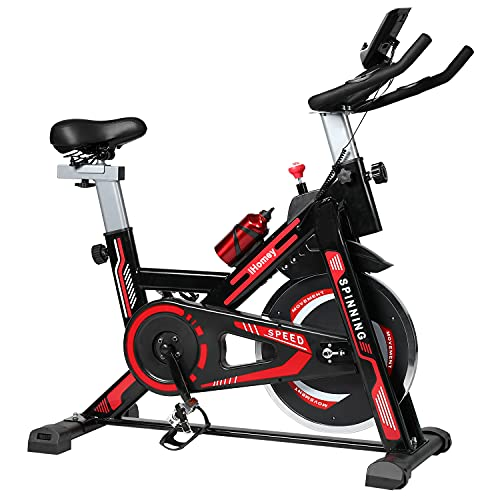 iHomey Indoor Cycling Bike Stationary Exercise Bike with Super-soft Seat, LCD Monitor, Ipad Mount for Home Cardio Workout