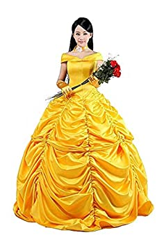 HalloweenCostumeParty Halloween Dress Movie Costume Cosplay High Durability for Women  3X-Large Belle