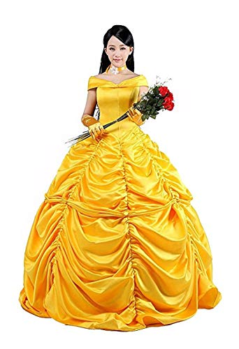 HalloweenCostumeParty Halloween Dress Movie Costume Cosplay High Durability for Women (XX-Large, Belle)