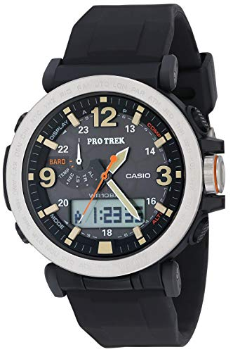 Casio Men's PROTREK Japanese-Quartz Watch with Resin Strap, Black, 23.77 (Model: PRG-600-1CR