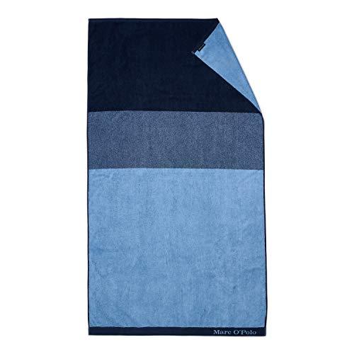 Marc O'Polo Strandlaken Horizon Strandtuch Badetuch Streifen Gestreift 100 cm x 180 cm, Farbe:Blau