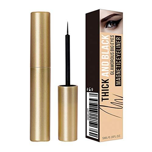 Stylo Eyeliner magnétique 6ml / 0.13fl oz pour l'application de faux cils magnétiques, Cutelove Black Liquid Liquide Eyeliner imperméable de longue durée pour les grands yeux, épais et noirs
