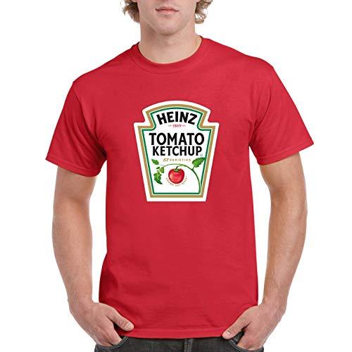 TOP-KKT Men's Heinz Tomato Ketchup Bottle Inspired Funny DIY t-Shirt