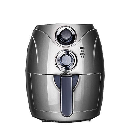 Wghz 2.5L Automatic Fryer Air Fry Fries Machine Household Mini Air Fryer Fully Automatic Intelligent No Fuel Electric Deep Fryer Oven UK Black
